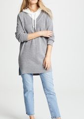 T by Alexander Wang alexanderwang.t Sweater Tunic with Inner Hoodie