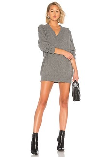 T by Alexander Wang Sweater V Neck Dress