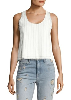 T by Alexander Wang T by Cropped Cotton Burlap Tank Top