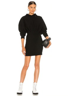 T by Alexander Wang Tailored Knit Hoodie Dress