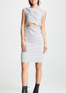T by Alexander Wang Tank Dress with Shoulder Twist and Keyhole