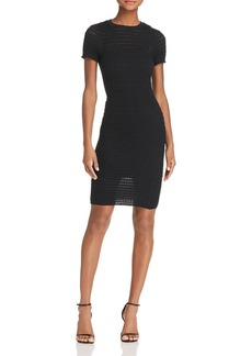 T by Alexander Wang Textured Body-Con Dress