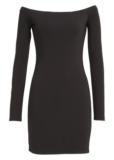 T by Alexander Wang 'The Lux' Ponte Knit Off the Shoulder Sheath Dress