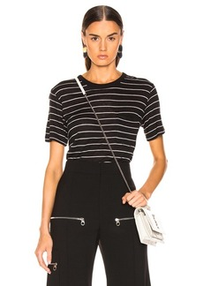 T by Alexander Wang Thin Striped Slub Tee