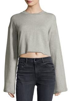 T by Alexander Wang Tie-Back Long-Sleeve Sweatshirt
