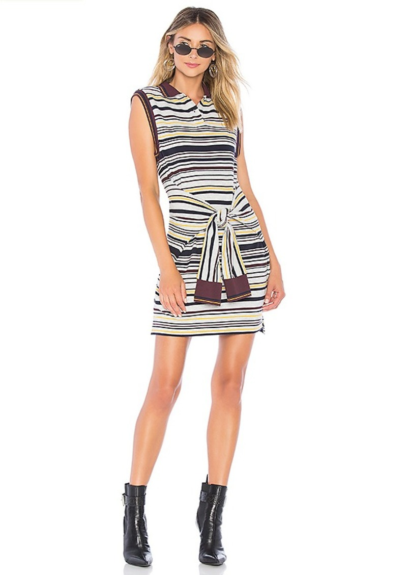 T by Alexander Wang Tie Front Polo Dress