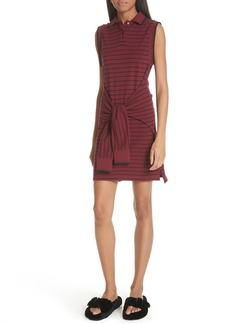 T by Alexander Wang Tie Waist Polo Dress