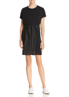 T by Alexander Wang Tie-Waist T-Shirt Dress