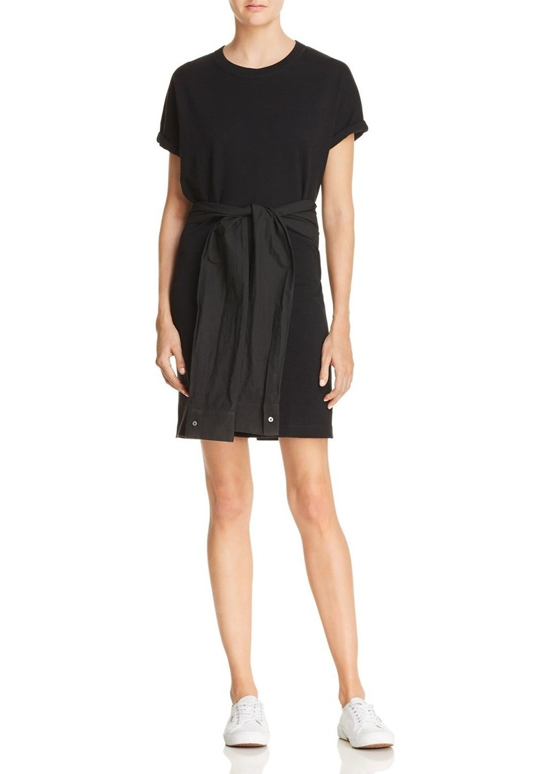 T By Alexander Wang T By Alexander Wang Tie Waist T Shirt Dress
