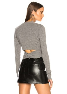 T by Alexander Wang Twist Back Cardigan