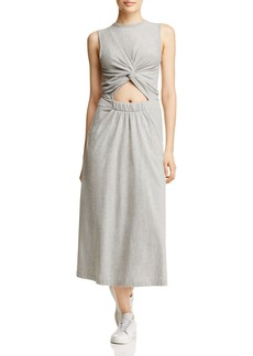 T by Alexander Wang Twist Front Knit Midi Dress
