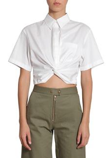 T by Alexander Wang Twist Front Short Shirt