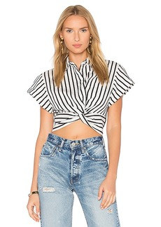 T by Alexander Wang Twist Front Top in Black & White. - size 0 (also in 2,4)