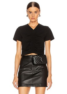 T by Alexander Wang Twist Short Sleeve Top