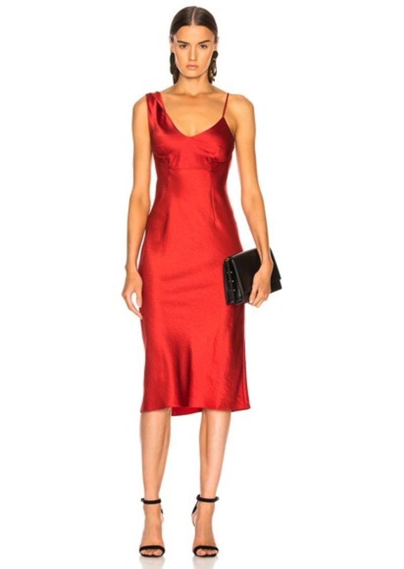 T by Alexander Wang Twist Shoulder Midi Slip Dress