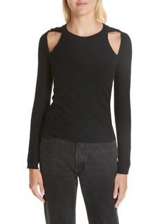 T by Alexander Wang Twisted Cutout Top