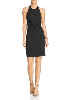 T by Alexander Wang Twisted Jersey Halter Dress