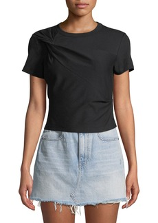 T by Alexander Wang Twisted Jersey Short-Sleeve Slim Tee