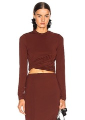 T by Alexander Wang Twisted Long Sleeve Top