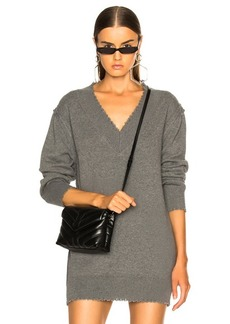 T by Alexander Wang V Neck Dress