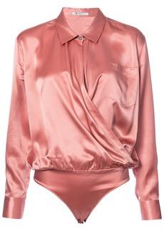 T By Alexander Wang V-neck silk blouse - Pink & Purple