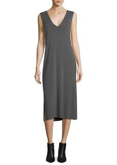 T by Alexander Wang V-Neck Sleeveless Shift Midi Dress