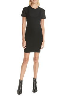 T by Alexander Wang Variegated Compact Jersey Dress