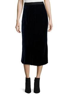 T by Alexander Wang Velvet Midi Skirt