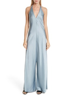 T by Alexander Wang Wash & Go Satin Halter Jumpsuit