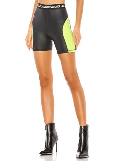 T by Alexander Wang Wash & Go Satin Jersey Biker Shorts