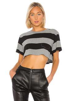 T by Alexander Wang Wash & Go Wide Stripe Twist Cropped Top