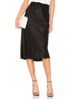 T by Alexander Wang Wash & Go Woven Drawstring Skirt