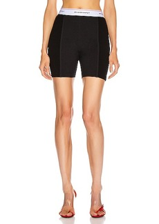 T by Alexander Wang Wash and Go Rib Biker Shorts
