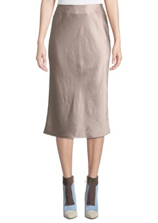 T by Alexander Wang Wash And Go Woven Slip Midi Skirt