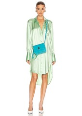 T by Alexander Wang Wet Shine Wash & Go Button Down Dress