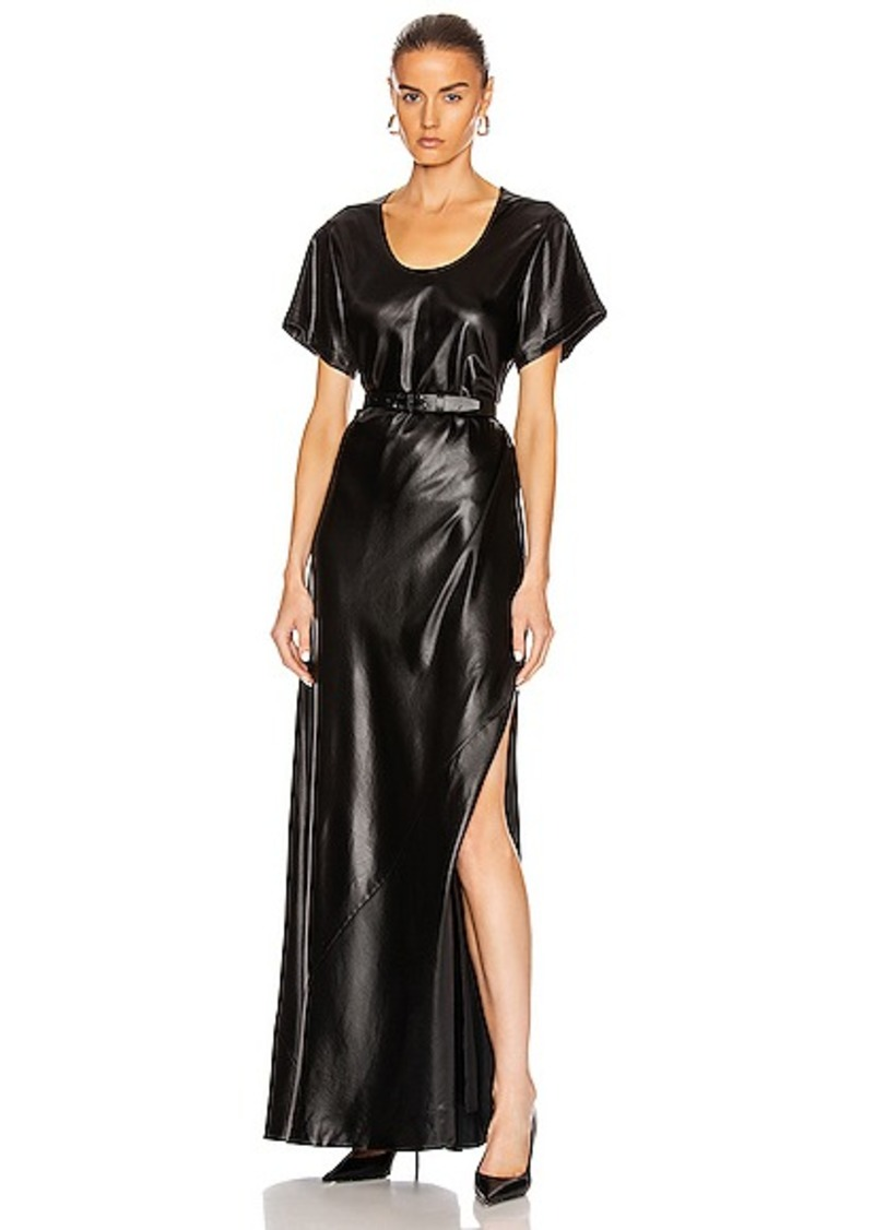T by Alexander Wang Wet Shine Wash & Go Maxi Dress