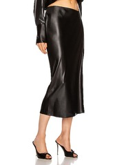 T by Alexander Wang Wet Shine Wash & Go Midi Skirt