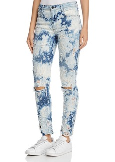T by Alexander Wang Whiplash Skinny Jeans in Bleached Destroy