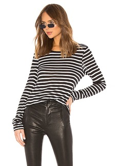 T by Alexander Wang Wide Striped Long Sleeve Tee