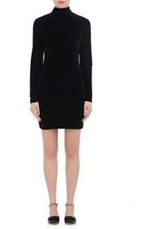 T by Alexander Wang Women's Cotton-Blend Velour Cutout Shift Dress