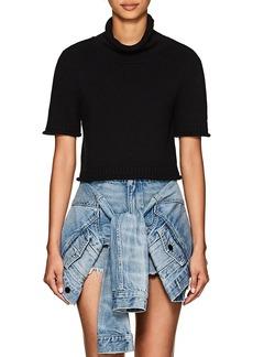 T by Alexander Wang Women's Cotton Crop Turtleneck Sweater