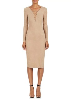 T by Alexander Wang Women's Lace-Up Sueded Jersey Dress
