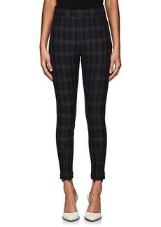 T by Alexander Wang Women's Plaid Skinny Cotton Twill Pants