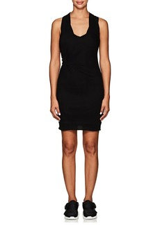 T by Alexander Wang Women's Twist-Side Cotton Fitted Tank Dress