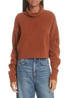 T by Alexander Wang Wool Blend Crop Sweater