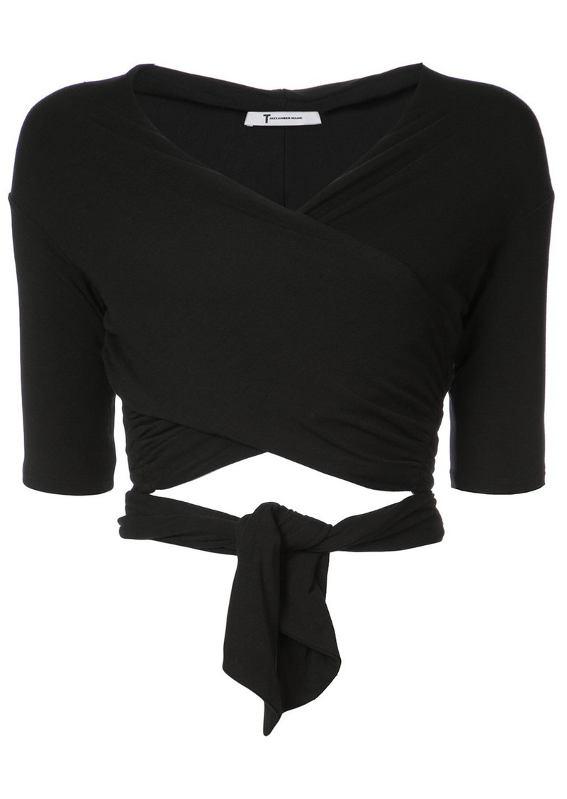 T by Alexander Wang wrap style top