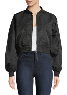 T by Alexander Wang Zip-Front Twill Jacket
