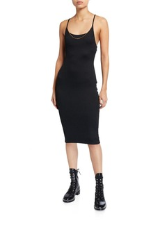 T by Alexander Wang Tech Bodycon Midi Dress