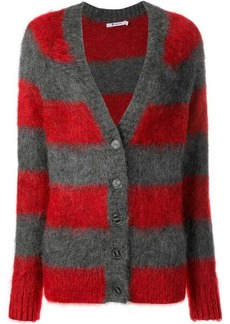 T by Alexander Wang textured striped cardigan