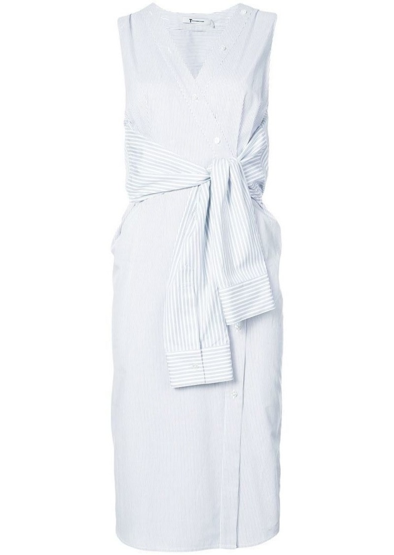 T by Alexander Wang tie front midi dress